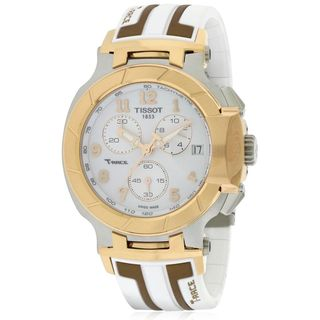 Tissot Men's T0484172701200 'T-Race Sport' Chronograph White Stainless Steel Watch