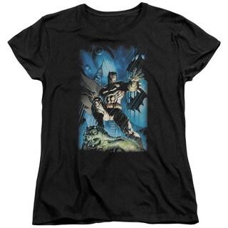 Batman/Stormy Dark Knight Short Sleeve Women's Tee in Black