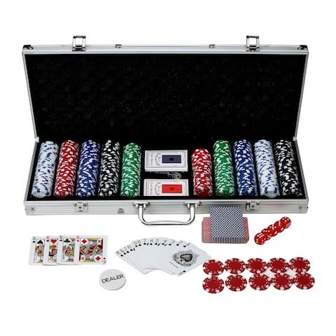 Hathaway Monte Carlo Poker Set (500 Pieces) - Silver