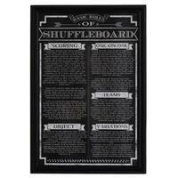 Hathaway 'Shuffleboard Game Rules' Wall Art