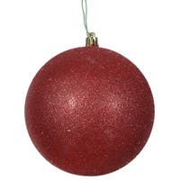 Red 3-inch Glitter Ball Ornaments (Pack of 12)