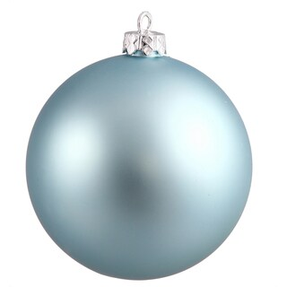 Baby Blue Plastic 2.75-inch Matte Ball Ornaments (Case of 12)