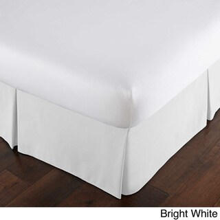 Southshore Fine Linens Vilnao Springs Solid Pleated 15-inch Drop Bedskirt