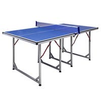 Reflex Blue 6-foot Mid-sized Table Tennis Table
