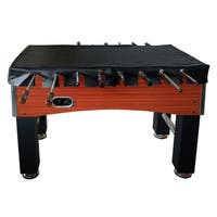 Hathaway Black Synthetic Leather 56-inch Foosball Table Cover