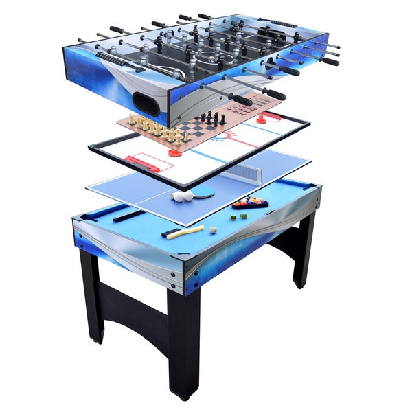 Matrix multicolored mdf 54 inch 7 in 1 multi game table for 13 in 1 game table
