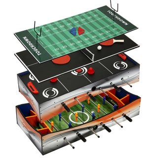 Link to Revolver 40-in 4-1 Tabletop Multi-Game with Foosball, Table Tennis, Glide Hockey, and Finger Football Similar Items in As Is