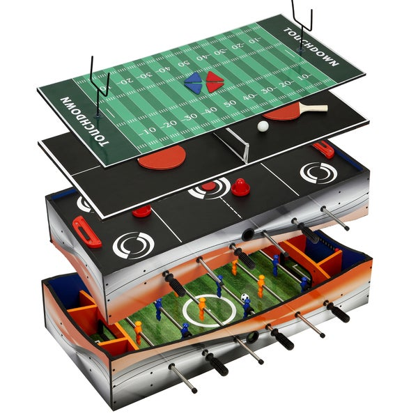 Revolver 40-in 4-1 Tabletop Multi-Game with Foosball, Table Tennis, Glide Hockey, and Finger Football