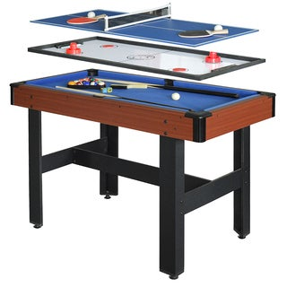 Triad Blue MDF 48-inch 3-in-1 Multi-game Table