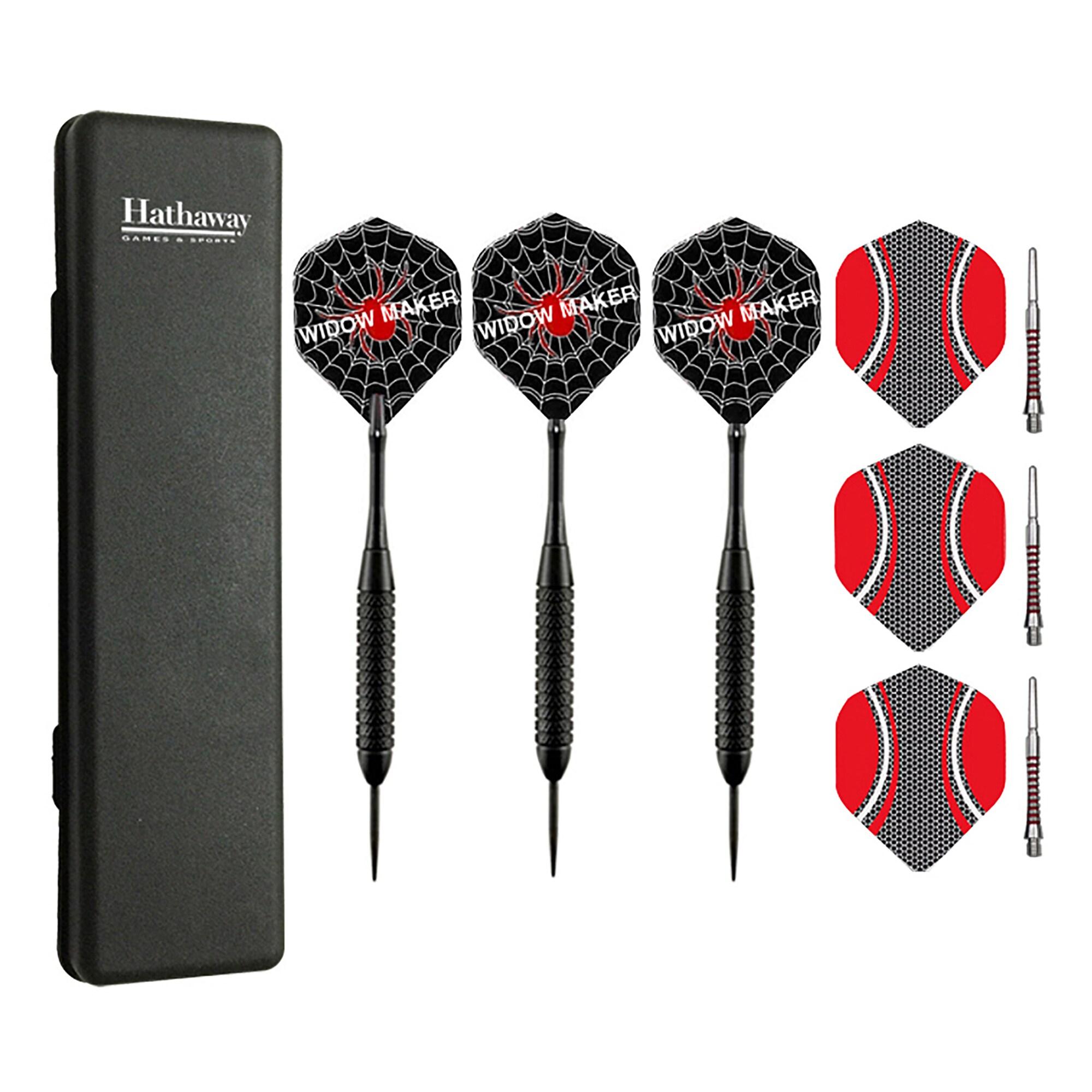 Hathaway Widow Maker Steel (Silver) Tip Darts (Set of 3) ...