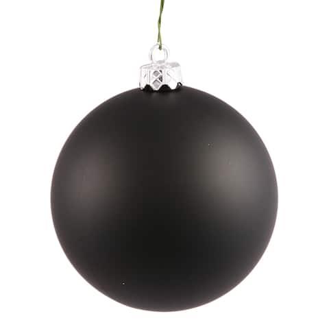 Black 2.75-inch Matte Ball Ornament (Case of 12)