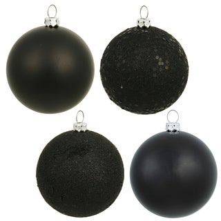 2.75-inch Black 4 Finish Assorted Ornaments (Case of 20)