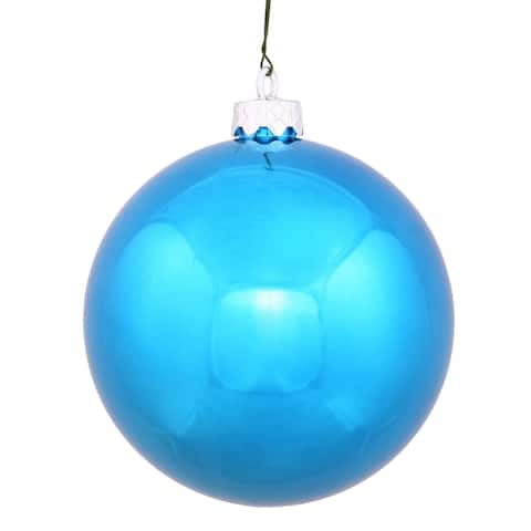 Turquoise 2.75-inch Shiny Ball Ornament (Pack of 12)