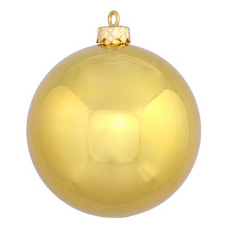 Gold Plastic 2.75-inch Shiny Ball Ornament (Pack of 12)