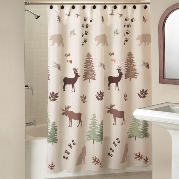 Saturday Knight Silhouette Lodge Shower Curtain