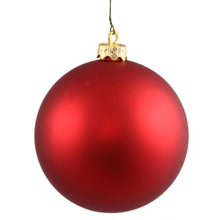Red Plastic Matte Ball Ornament (Pack of 12)