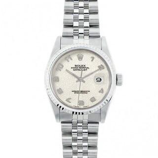 Pre-Owned Rolex Midsize Datejust 31mm Stainless Steel Ivory Jubilee Arabic Dial Watch Model 68274