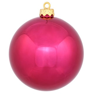 2.4-inch Wine-colored Shiny Ball Ornament (Pack of 24)