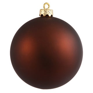 Mocha Plastic 2.4-inch Matte Ball Ornament (Pack of 24)
