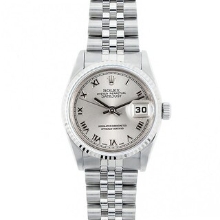 Pre-Owned Rolex Midsize Datejust 31mm Stainless Steel Silver Roman Dial Watch Model 68274