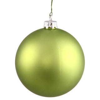 """2.4"""" Lime Matte Ball Ornament (Pack of 24)"""