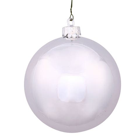 Silver 2.4-inch Shiny Ball Ornament (Pack of 24)
