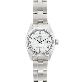 Pre-Owned Rolex Women's Datejust 26mm Stainless Steel White Roman Dial Watch Model 69160