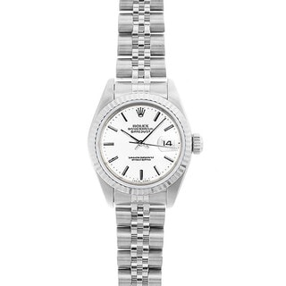 Pre-Owned Rolex Women's Datejust 26mm Stainless Steel White Stick Dial Watch Model 69174