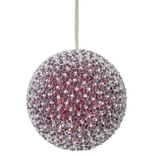 Red Acrylic Beaded 8-inch Ball Ornament