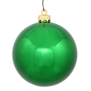 Green 3-inch Shiny Ball Ornament (Pack of 12)