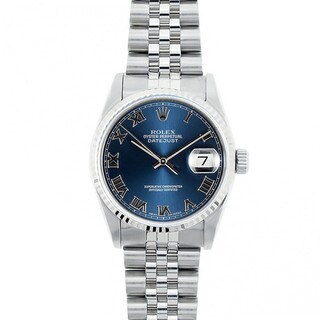 Pre-Owned Rolex Midsize Datejust 31mm Stainless Steel Blue Roman Dial Watch Model 68274