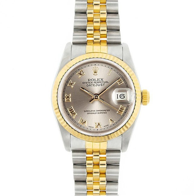 Used Pre-Owned Rolex Men's Midsize Datejust Champagne Dia...