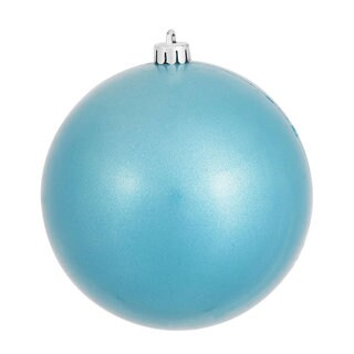 Turquoise Plastic 4-inch Candy Ball Ornament (Pack of 6)