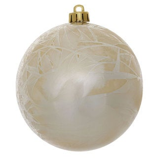 Champagne 3-inch Crackle Ball Ornament (Pack of 12)