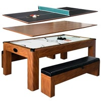 Shop Park Avenue Ft Pool Table Combo Set W Benches Free - 7 foot picnic table