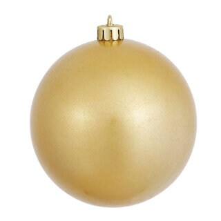 Goldtone 4-inch Candy Ball Ornament (Pack of 6)
