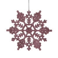 Pretty in Pink 4-inch Snowflakes Ornament (Pack of 24)