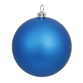 Blue Matte 4-inch Ball Ornament (Pack of 6)