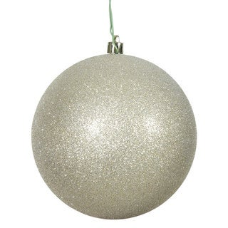 Champagne 3-inch Glitter Ball Ornament (Pack of 12)