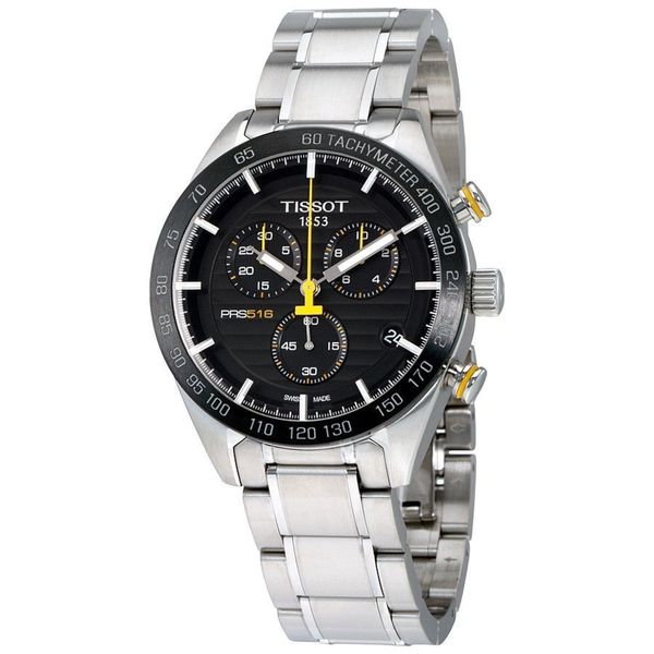 8622fb14b Shop Tissot Men's T1004171105100 'PRS 516' Chronograph Stainless ...
