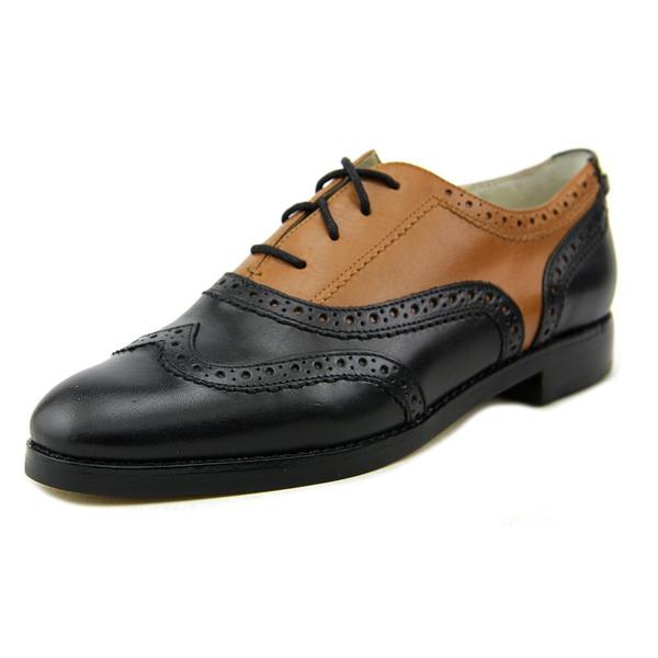fb52dc531b Shop Michael Kors Women s Regent Oxford Black Leather Dress Shoes ...