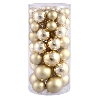 Gold Shiny/Matte 1.5-2-inch Ball Ornaments (Pack of 50)