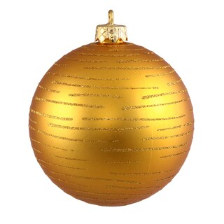 Antique Gold Glitter 4.75-inch Ball Ornaments (Pack of 2)
