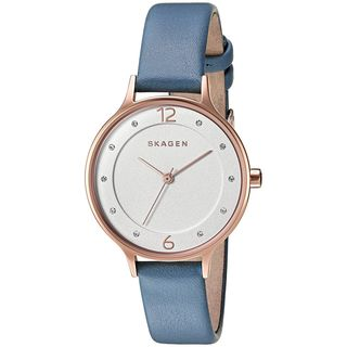 Skagen Women's SKW2497 'Anita' Crystal Blue Leather Watch