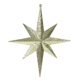 12-inch Gold Glitter Bethlehem Star Ornament (Pack of 2)
