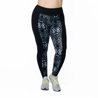 Rainbeau Curves Women's Print Cotton and Spandex Leggings (2 options available)