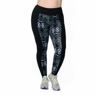Women's Joan Print Blue/Black Cotton and Spandex Leggings