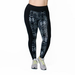 Rainbeau Curves Women's Print Cotton and Spandex Leggings