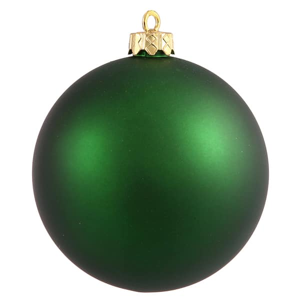 Emerald 4 Inch Matte Ball Ornament Pack Of 6 Overstock 12708585