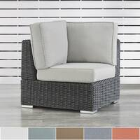 Barbados Wicker Outdoor Cushioned Grey Charcoal Sectional Corner Chair iNSPIRE Q Oasis